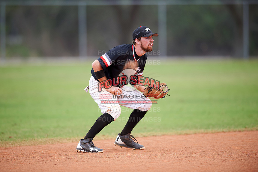 Edgewood College Eagles Jonathan Roehler (9) during the first game of a doubleheader against Western Connecticut Colonials on March 13, 2017 at the Lee County Player Development Complex in Fort Myers, Florida.  Edgewood defeated Western Connecticut 3-0.  (Mike Janes/Four Seam Images)