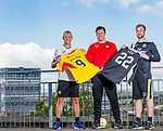 01.07.2019 Partick Thistle presser: Manager Gary Caldwell with new signings Kenny Miller and Scott Fox