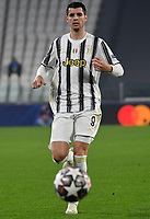 Football Soccer: UEFA Champions League -Round of 16 2nd leg Juventus vs FC Porto, Allianz Stadium. Turin, Italy, March 9, 2021.<br /> Juventus' Alvaro Morata in action during the Uefa Champions League football soccer match between Juventus and Porto at Allianz Stadium in Turin, on March 9, 2021.<br /> UPDATE IMAGES PRESS/Isabella Bonotto