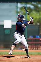 Cleveland Indians Andrew Calica (17) during an Instructional League game against the Kansas City Royals on October 11, 2016 at the Cleveland Indians Player Development Complex in Goodyear, Arizona.  (Mike Janes/Four Seam Images)