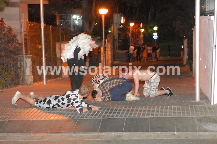 **ALL ROUND EXCLUSIVE PICTURES FROM SOLARPIX.COM**                                             **WORLDWIDE SYNDICATION RIGHTS** .Salou Fest 2011                                                                            British students on the annual drinking spree in the Spanish city of Salou in Spain.                                                     This pic:    Salou Drinking Festival                                                                                          JOB REF:   13143     NSP       DATE:   12 & 13.04.11                                                         **MUST CREDIT SOLARPIX.COM OR DOUBLE FEE WILL BE CHARGED**                                                                      **MUST AGREE FEE BEFORE ONLINE USAGE**                               **CALL US ON: +34 952 811 768 or LOW RATE FROM UK 0844 617 7637**