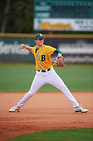 North Dakota State Bison infielder Tucker Rohde (5) during warmups before a game against the Central Connecticut State Blue Devils on February 23, 2018 at North Charlotte Regional Park in Port Charlotte, Florida.  North Dakota State defeated Connecticut State 2-0.  (Mike Janes/Four Seam Images)