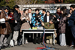 Tokyo Governor Yuriko Koike answers questions from reporters after visited new giant panda cub Xiang Xiang at Ueno Zoo on December 18, 2017, Tokyo, Japan. Koike attended a presentation ceremony for Ueno Zoo's new female panda cub Xiang Xiang who was born on June 12, 2017. Xiang Xiang, which means ''fragrance or popular'' in Chinese, is the fifth cub to be born in the Zoo and will be shown to the public starting December 19. (Photo by Rodrigo Reyes Marin/AFLO)