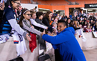 HOUSTON, TX - JANUARY 31: Adrianna Franch #18 of the United States greets fans during a game between Panama and USWNT at BBVA Stadium on January 31, 2020 in Houston, Texas.