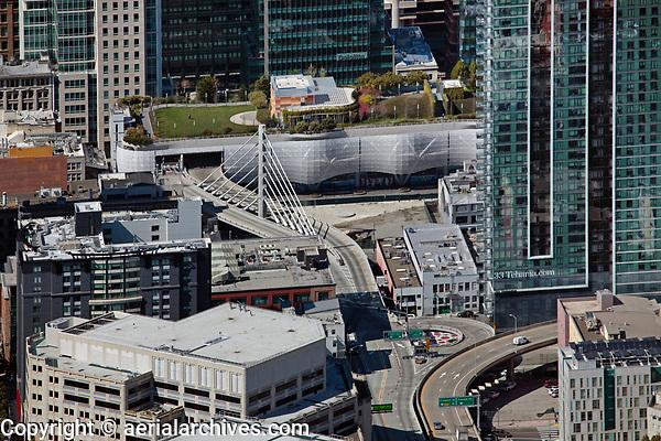 aerial photograph of the Transbay Transit Center, San Francisco, California