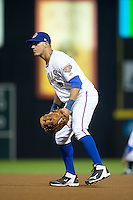 Durham Bulls first baseman J.P. Arencibia (16) on defense against the Scranton/Wilkes-Barre RailRiders at Durham Bulls Athletic Park on May 15, 2015 in Durham, North Carolina.  The RailRiders defeated the Bulls 8-4 in 11 innings.  (Brian Westerholt/Four Seam Images)