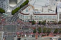 aerial photograph Market Street Pride Parade San Francisco, California