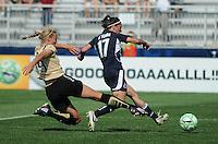 Washington Freedom forward Lisa De Vanna (17) versus FC Gold Pride defender Carrie Drew (19).   Washington Freedom defeated FC Gold Pride 3-1at the Maryland SoccerPlex, Sunday May 31, 2009.