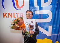 Hilversum, Netherlands, December 3, 2017, Winter Youth Circuit Masters, Winner boys 12 years Jesse Tan <br /> Photo: Tennisimages/Henk Koster