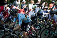 Jolien d'Hoore (BEL/SD Worx) up the Moskesstraat<br /> <br /> Women Elite - Road Race (WC)<br /> from Antwerp to Leuven (158km)<br /> <br /> UCI Road World Championships - Flanders Belgium 2021<br /> <br /> ©kramon