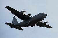 Norwegian Air Force C-130 Hercules taking off  at Rygge Airshow. Norway