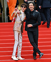 CANNES, FRANCE. July 12, 2021: Timothee Chalamet & Adrien Brody at the gala premiere of Wes Anderson's The French Despatch at the 74th Festival de Cannes.<br /> Picture: Paul Smith / Featureflash