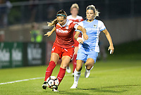 Boyds, MD - Saturday April 29, 2017: Shelina Zadorsky during a regular season National Women's Soccer League (NWSL) match between the Washington Spirit and the Houston Dash at Maureen Hendricks Field, Maryland SoccerPlex. The Dash won 1-0.