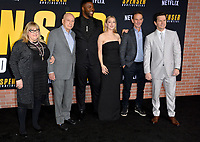 "LOS ANGELES, CA: 27, 2020: Colleen Camp, Alan Arkin, Winston Duke, Iliza Shlesinger, Peter Berg & Mark Wahlberg  at the world premiere of ""Spenser Confidential"" at the Regency Village Theatre.<br /> Picture: Paul Smith/Featureflash"