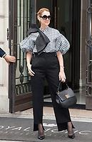July 6, 2017 - PARIS, FRANCE : Singer CÈline Dion leaves the Royal Monceau Hotel on Avenue Hoche
