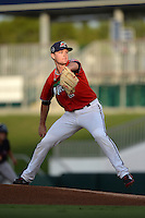 Fort Myers Miracle pitcher Kohl Stewart (2) delivers a pitch during a game against the Tampa Yankees on April 15, 2015 at Hammond Stadium in Fort Myers, Florida.  Tampa defeated Fort Myers 3-1 in eleven innings.  (Mike Janes/Four Seam Images)
