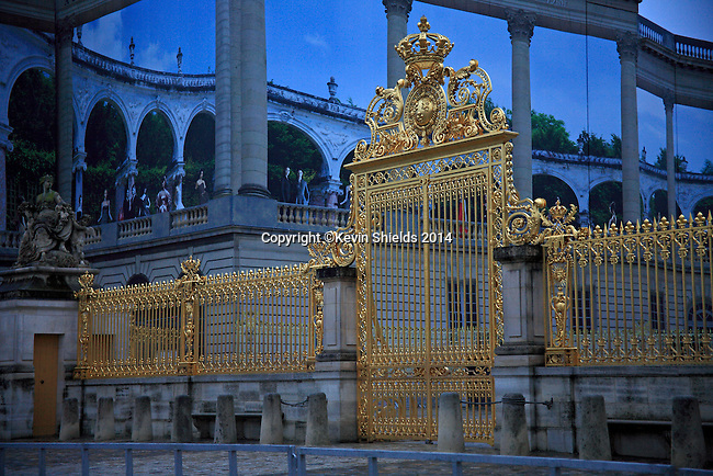 Gate at the Palace of Versailles, Versailles, France.