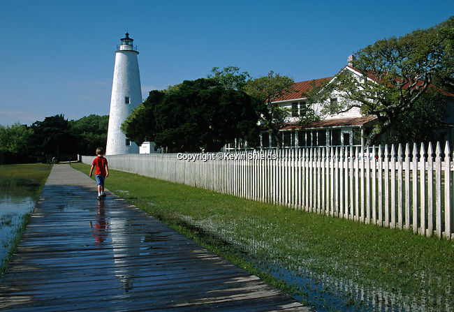 Ocracoke Island Lighthouse, Ocracoke Island, North Carolina, USA