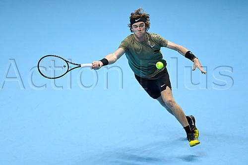 19th November 2020; O2, London;  Andrey Rublev , Russia during the 2020 ATP Finals , London