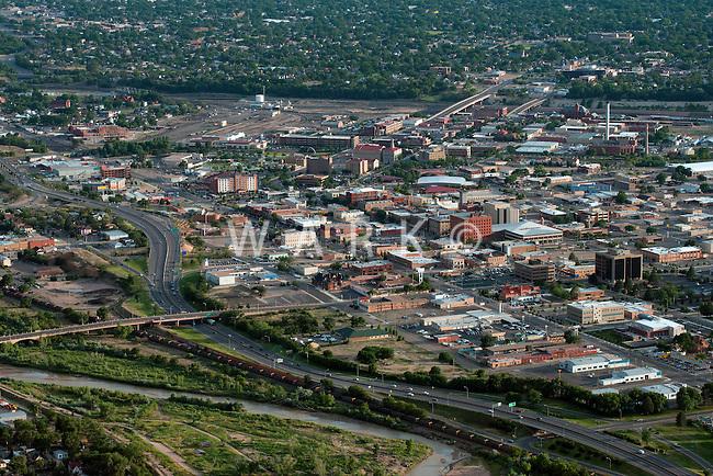 Pueblo, Colorado. Fountain River and downtown. June 2014. 85700