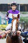 Jockey Jack Wong Ho-nam riding New Asia Sunrise pose for photo after winning the Race 10 - Atlantic Ocean Handicap on 07 May 2017, at the Sha Tin Racecourse  in Hong Kong, China. Photo by Chris Wong / Power Sport Images