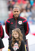 Toronto, Ontario - May 17, 2014: New York Red Bulls forward Thierry Henry #14 during the opening ceremonies in a game between the New York Red Bulls and Toronto FC at BMO Field. Toronto FC won 2-0.