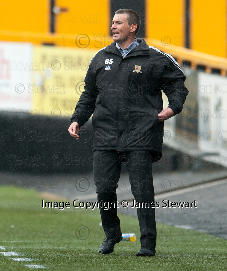 Alloa Manager Barry Smith.