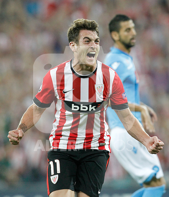 Athletic de Bilbao's  and SSC Napoli's  during Champions League 2014/2015 Play-off 2nd leg match.August 27,2014. (ALTERPHOTOS/Acero)