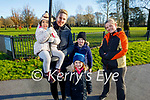 Maddie Flandes, Mary Mangan, Chrissy McLoughlan, Logan and Holly O'Connor enjoying the playground in the Tralee Town park on Friday.