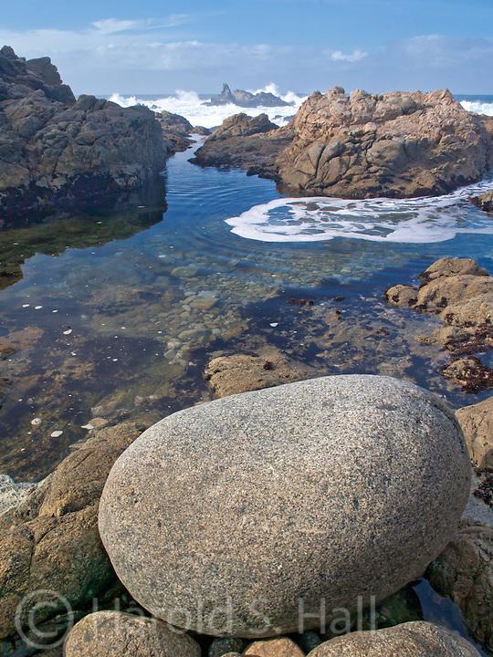 Tide pool along the Big Sur Coast in California.