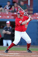 Illinois State Redbirds catcher Mike Hollenbeck #51 during a game vs. the Xavier Musketeers at Chain of Lakes Stadium in Winter Haven, Florida;  March 5, 2011.  Illinois State defeated Xavier 7-6.  Photo By Mike Janes/Four Seam Images