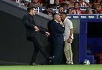 Atletico de Madrid's coach Diego Pablo Simeone during La Liga match. Aug 18, 2019. (ALTERPHOTOS/Manu R.B.)Atletico de Madrid's coach Diego Pablo Simeone  during the Spanish La Liga match between Atletico de Madrid and Getafe CF at Wanda Metropolitano Stadium in Madrid, Spain