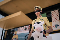 Chris Froome (GBR/SKY) coming down the sign-on podium<br /> <br /> 104th Tour de France 2017<br /> Stage 6 - Vesoul › Troyes (216km)