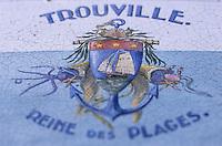 Europe/France/Normandie/Basse-Normandie/14/Calvados/Trouville: Détail de la table d'orientation