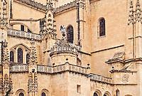 Details of Segovia Cathedral, Segovia, Spain