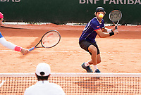 Paris, France, 04 ,10,  2020, Tennis, French Open, Roland Garros, Men's doubles Jean Julien Rojer (NED)<br /> Photo: Susan Mullane/tennisimages.com