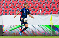 GUADALAJARA, MEXICO - MARCH 28: Tanner Tessmann #11of the United States moves with the ball during a game between Honduras and USMNT U-23 at Estadio Jalisco on March 28, 2021 in Guadalajara, Mexico.