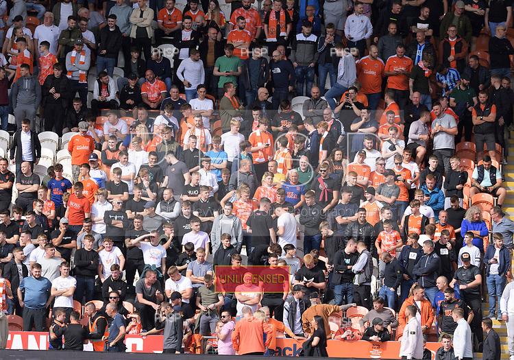 11/09/2021 Sky Bet Championship Blackpool v Fulham<br /> <br /> Fans pre match