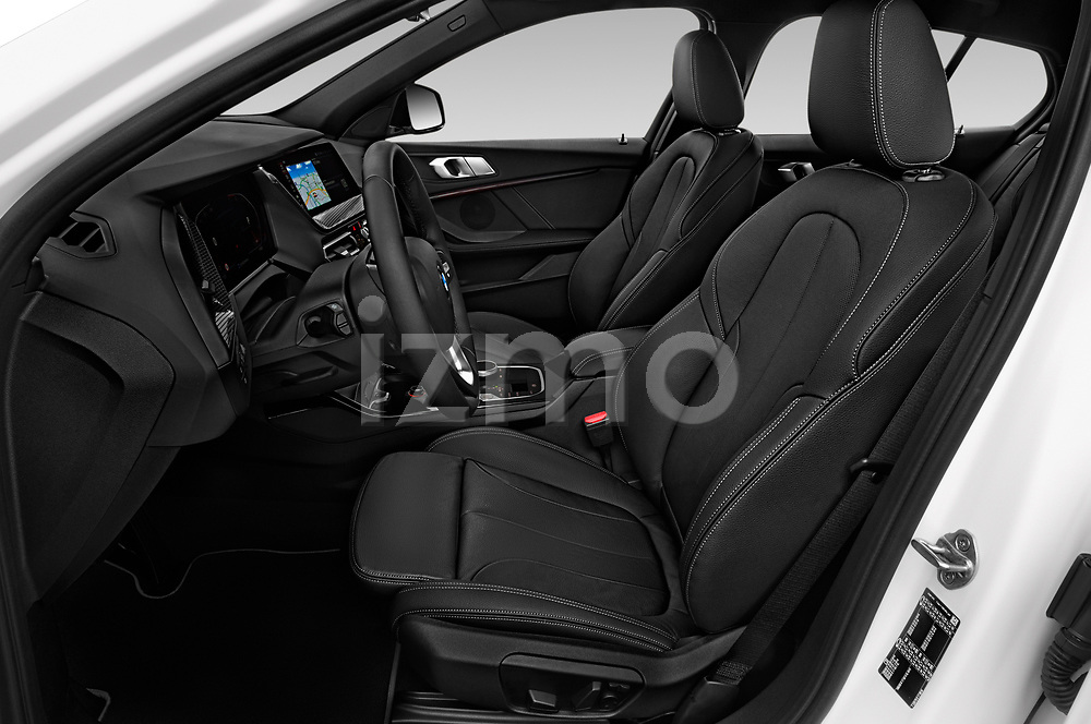 Front seat view of 2020 BMW 1-Series Sport 5 Door Hatchback Front Seat  car photos