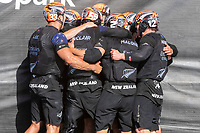 17th March 2021; Waitemata Harbour, Auckland, New Zealand;  Emirates Team New Zealand Flight controller Blair Tuke after winning the America's Cup against Luna Rossa Prada Pirelli Team 7 - 3.  Wednesday the 17th of March 2021.