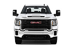 Car photography straight front view of a 2020 GMC Sierra-2500HD - 4 Door Pick-up Front View