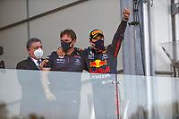 6th June 2021; F1 Grand Prix of Azerbaijan, Race Day;  Pierre Wache Red Bull Racing, Race winner 11 Sergio Perez MEX, Red Bull Racing, F1 Grand Prix of Azerbaijan at Baku City Circuit on June 6, 2021 in Baku, Azerbaijan.
