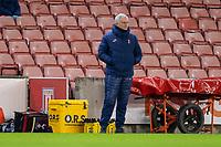 23rd December 2020; Bet365 Stadium, Stoke, Staffordshire, England; English Football League Cup Football, Carabao Cup, Stoke City versus Tottenham Hotspur; Tottenham Hotspur Head Coach Jose Mourinho watches the game
