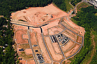 Aerial photo of a Charlotte neighborhood under construction taken May 2008.