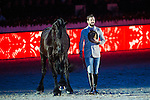 Santi Serra performs at the arena during the Day 1 of the Longines Masters of Hong Kong on 10 February 2017 at the Asia World Expo in Hong Kong, China. Photo by Juan Serrano / Power Sport Images