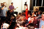 Bad Yodelers at the Pompoudor. Rick Egan shooting (red sleeve)<br />