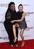 Jeannie Mai + Loni Love @ the premiere of 'Barber Shop The Next Cut' held @ the Chinese theatre.<br /> April 6, 2016