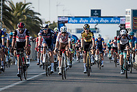 Wout van Aert (BEL/Jumbo-Visma) smiling after winning <br /> <br /> Stage 1 from Lido di Camaiore to Lido di Camaiore (156km)<br /> <br /> 56th Tirreno-Adriatico 2021 (2.UWT) <br /> <br /> ©kramon