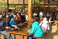 Tourists panning for gold, Fairbanks, Alaska