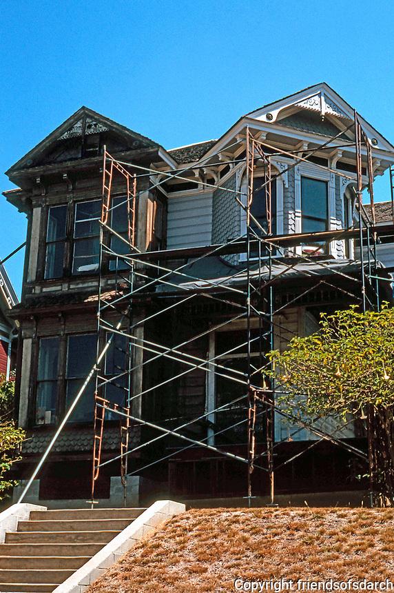 Los Angeles: House, 1325 Carroll Avenue, Angelino Heights. Eastlake/Queen Anne undergoing restoration. Photo '04.